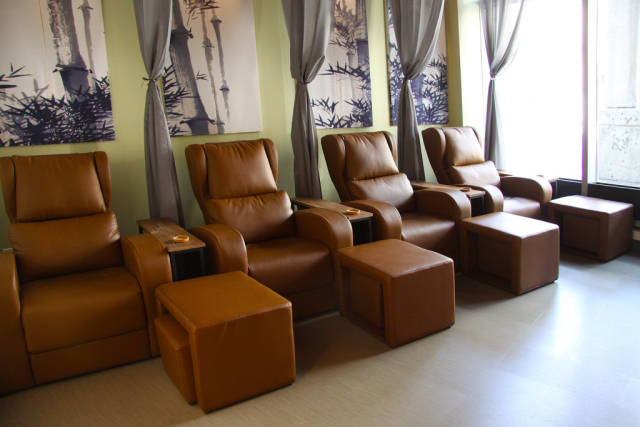 Sit back and relax in the heart of Vancouver Barefoot Oasis Foot Massage and Spa